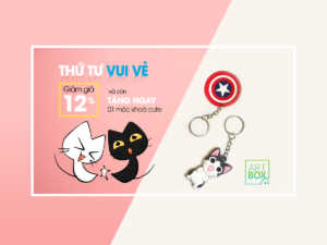 Promotion website banner, facebook ad with cute cat cartoon characters