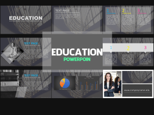 Education Presentation,Presentation,Education, powerpoint, templates, school, teacher, business, company, gray, black
