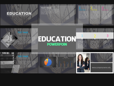 Education Presentation,Presentation,Education, powerpoint, templates, school, teacher, business, company, gray, black