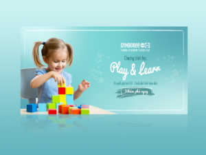 Kid playing toy – Education Banner