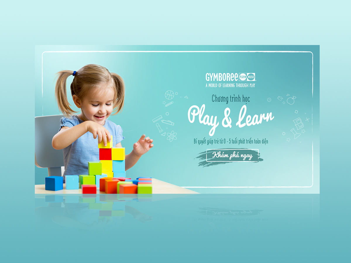 Kid Playing Toy Education Banner Xcreative