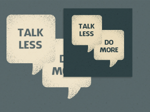 Talk less Do more – Social media Templates