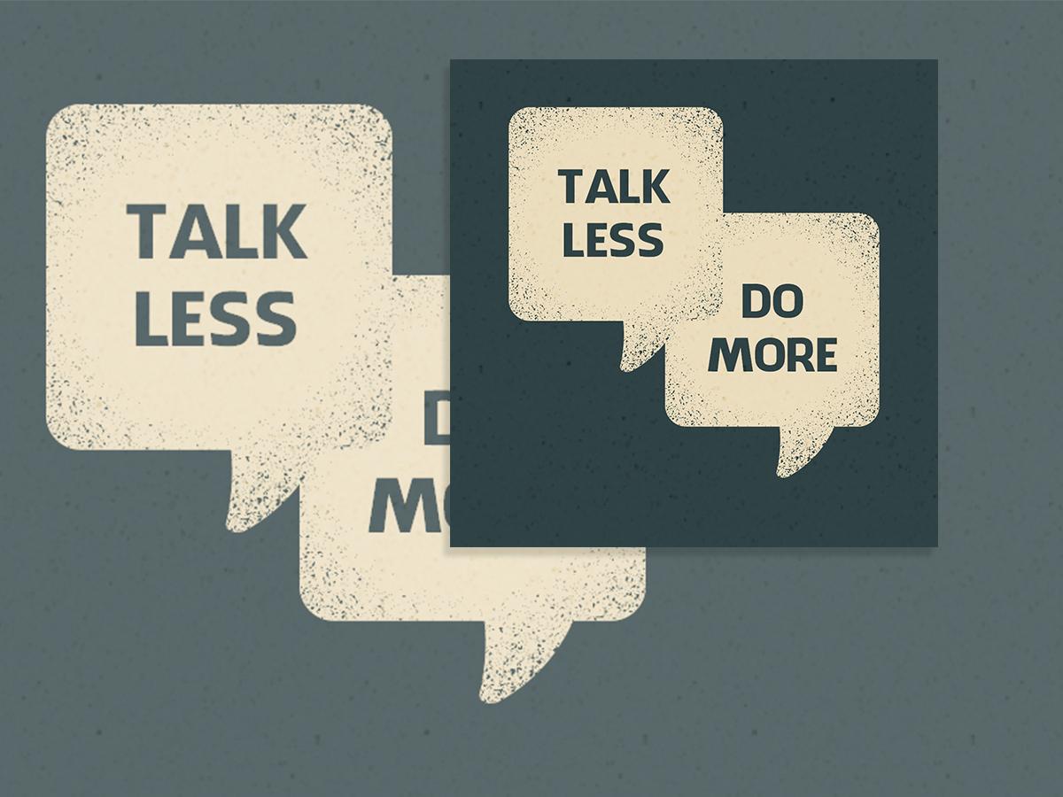 Talk less do more, talk, do, facebook ads, instagram, social media, templates