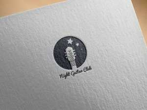 Night guitar club – logo design
