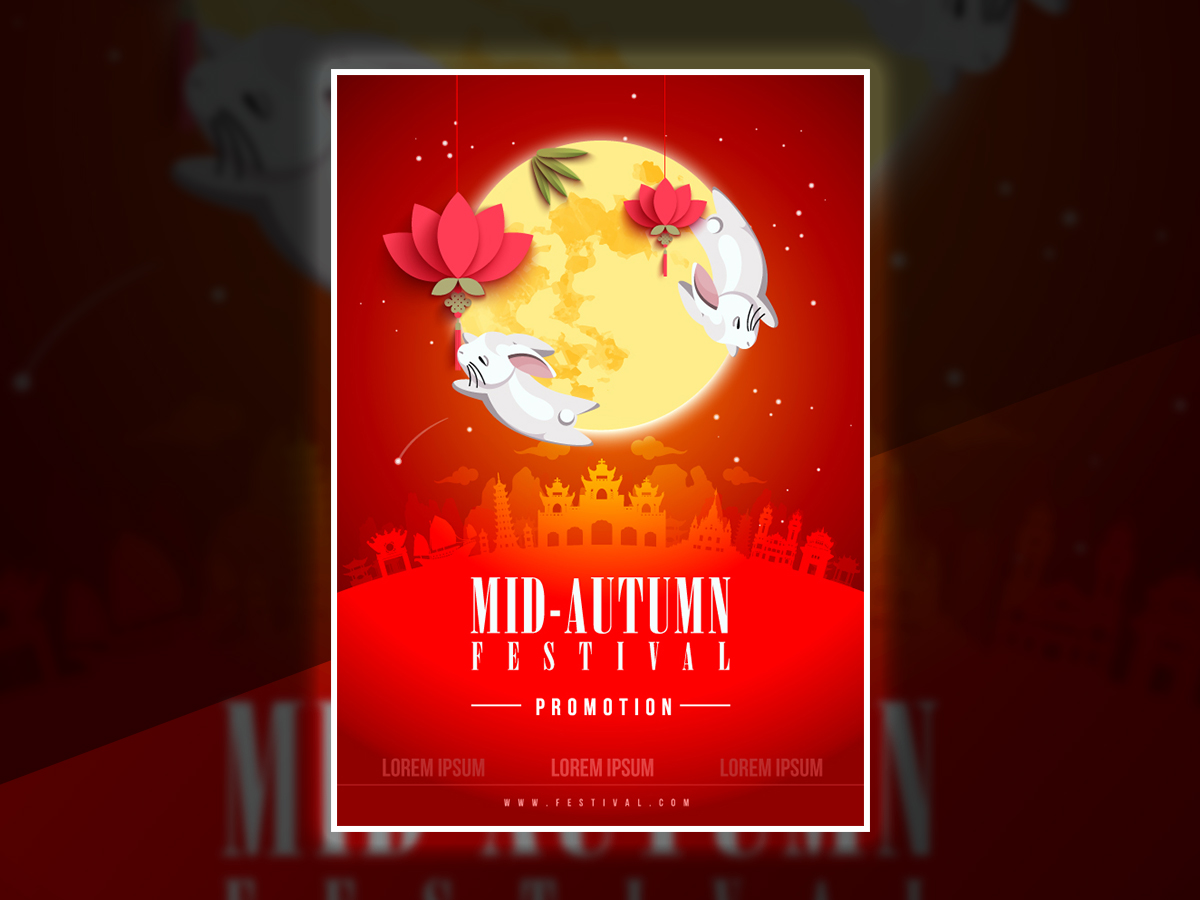 Mid Autumn Festival Poster Template