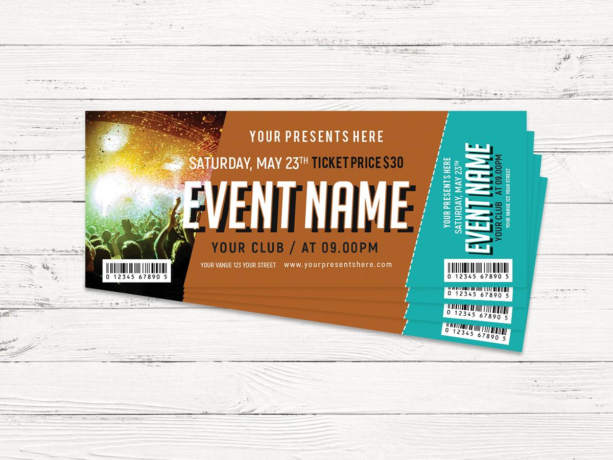 music ticket design template xcreative