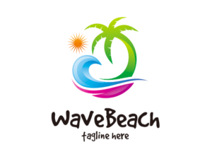 Beach & wave logo