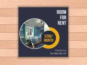 Room for rent  Social Media Template