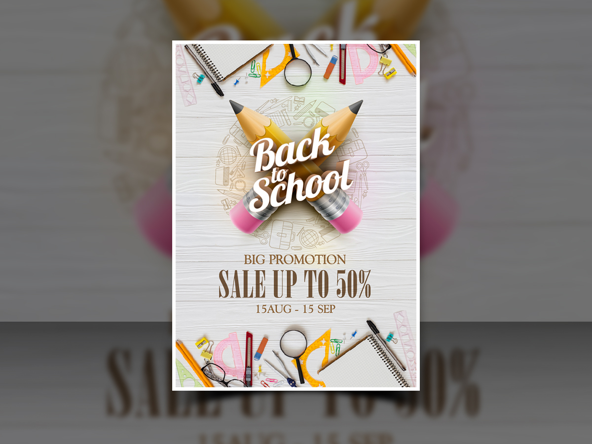 Back to school promotion-Poster Templates