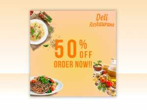 Deli Restaurant Sale – Social Media Template