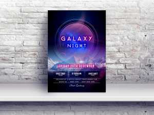 Galaxy Night – Poster templates