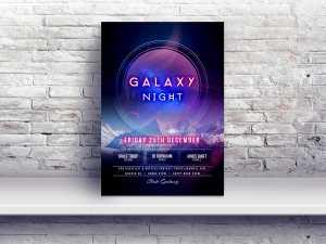 Galaxy Night – Poster templates