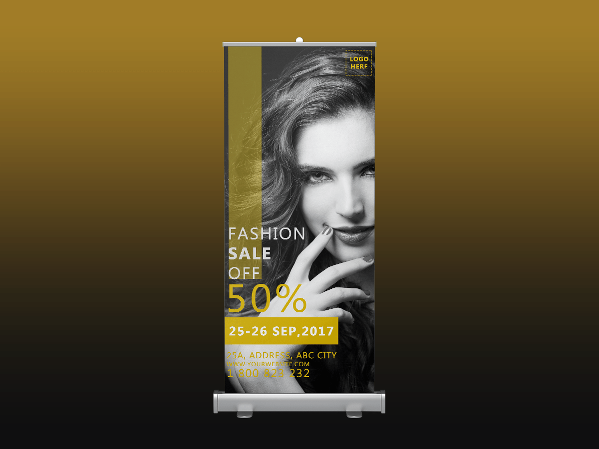 Fashion sale, rollup banner, fashion, shop, store, sale, sale off, promotion, discount, collection,standee, model