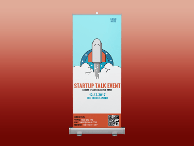Startup Talk Event ,event, business, youth , rollup banner, standee, rollup, plane, cloud, starup, business