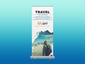 Travel the world – rollup banner