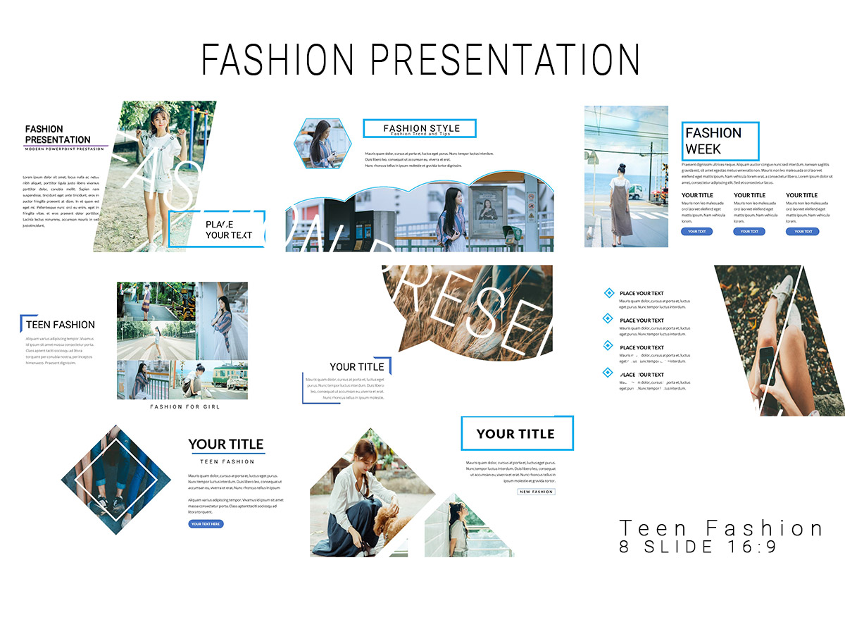 Fashion Presentation Template For Powerpoint Xcreative