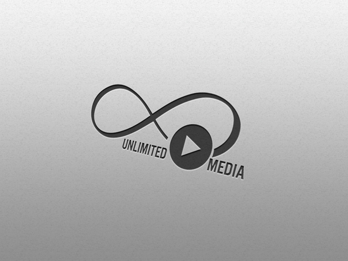 Media, logo, design, Unlimited, template, song, sing, video, entertainment