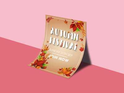 autumn, festival, poster