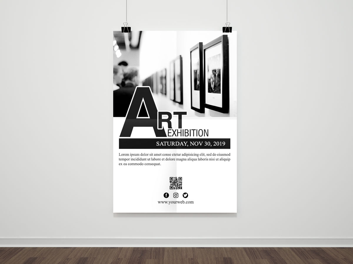 Museum, art, exhibition, flyer, poster, template, drawing, artist, design