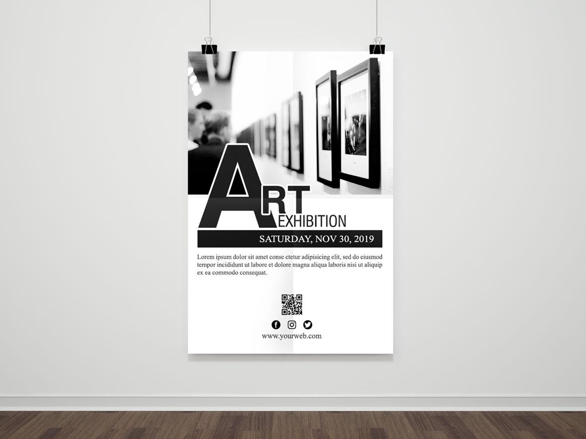art exhibition flyer template xcreative
