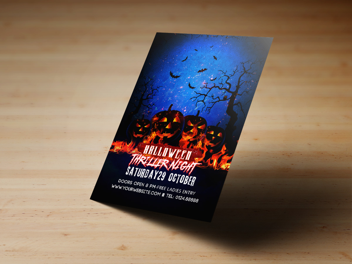 Halloween,Night,Party,Poster, flyer, Template, print, happy halloween, dark, night, black, blue, event