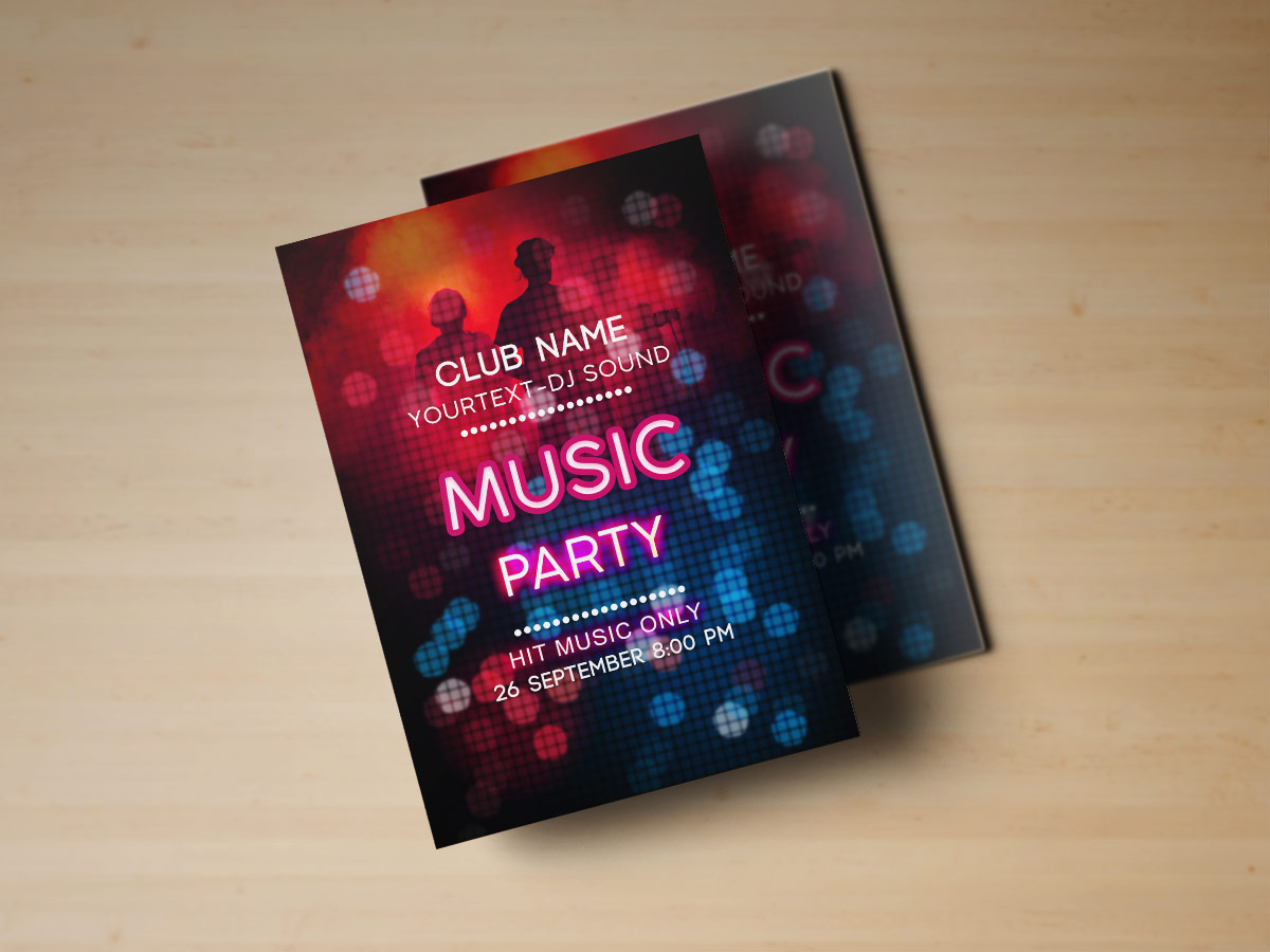 Night Party, Flyer, poster,design,Templates, music, Music party flyer templates, night, event, Dj, party, light