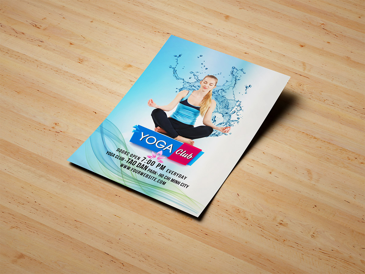 Yoga club, Yoga Class, yoga, heathy, poster, nature, flyer, templates, water, women, comfortable