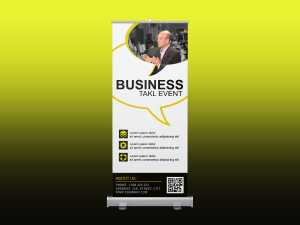 Business talk event – Rollup banner