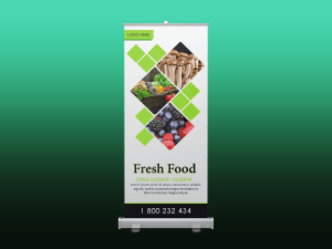 Fresh food – rollup banner