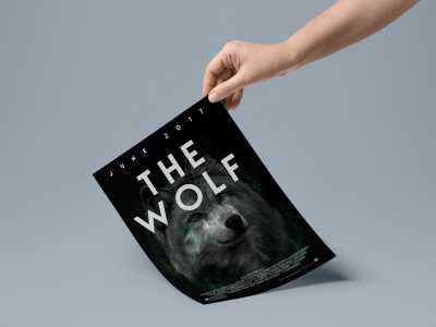 wolf, poster, film, design
