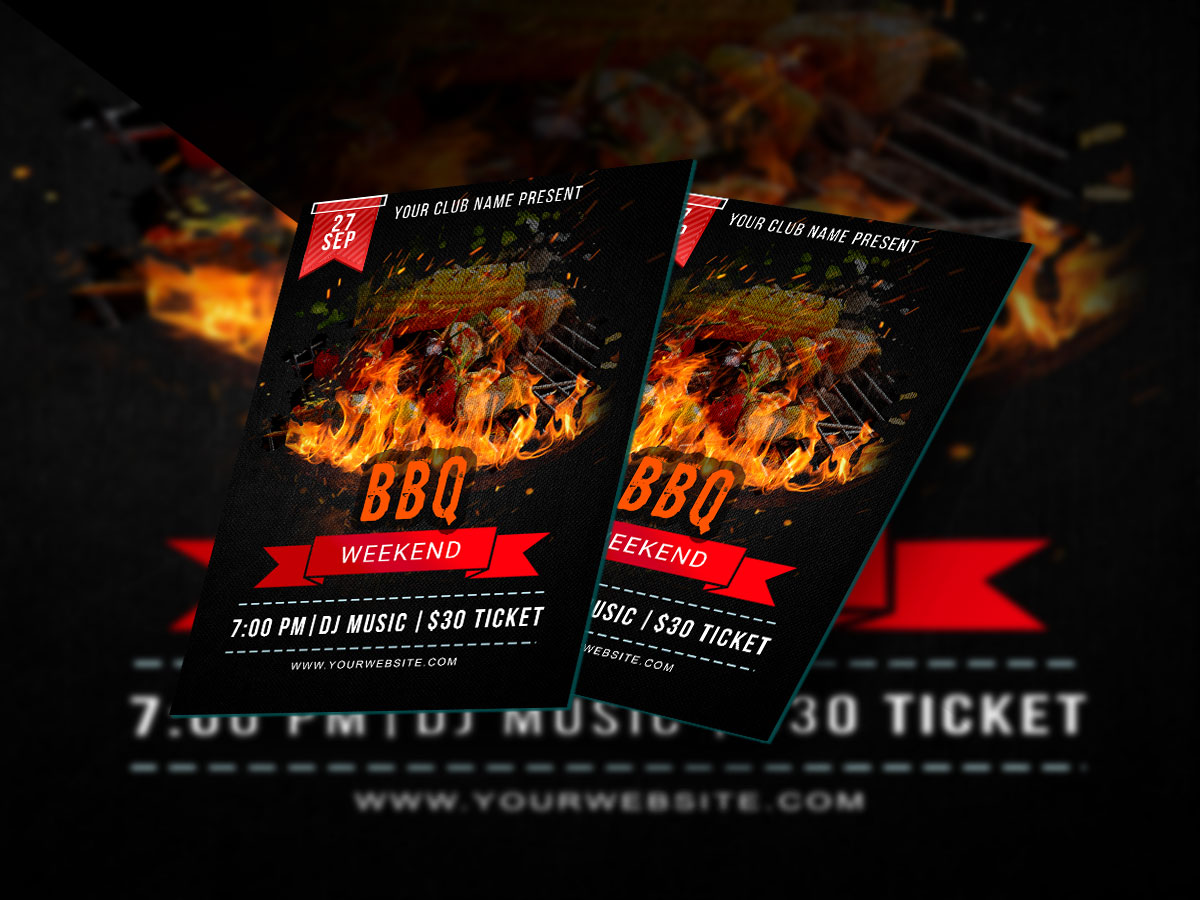 weekend bbq flyer templates xcreative