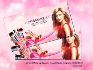 Hair and Make-up Services-Social Media Templates