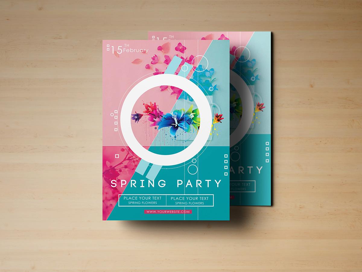 Spring Party Flyer Templates Creatily Market – Spring Flyer Template