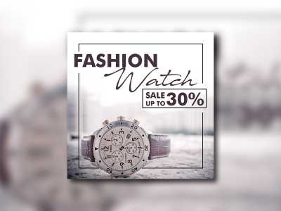 watch sale off design template promotion banner