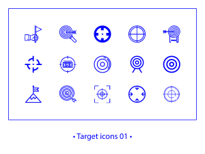 Target 01 – linear icons