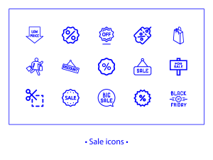 Sale – linear icons