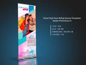 Street-Style-Teen-Rollup-banner-Templates