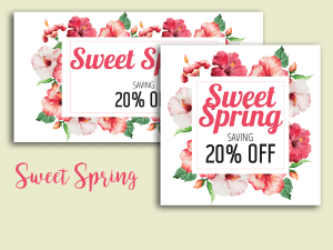 Sweet Spring Sale – Social Media Templates