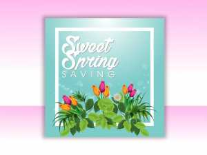 Sweet Spring Saving Social Media Template
