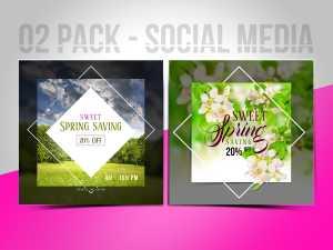 Sweet spring saving 02 pack-Social media Templates