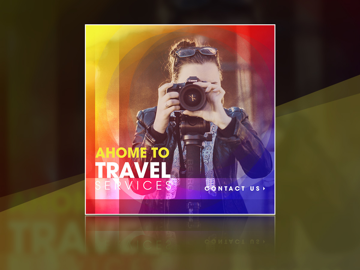 Ahome to travel services-Social media Templates