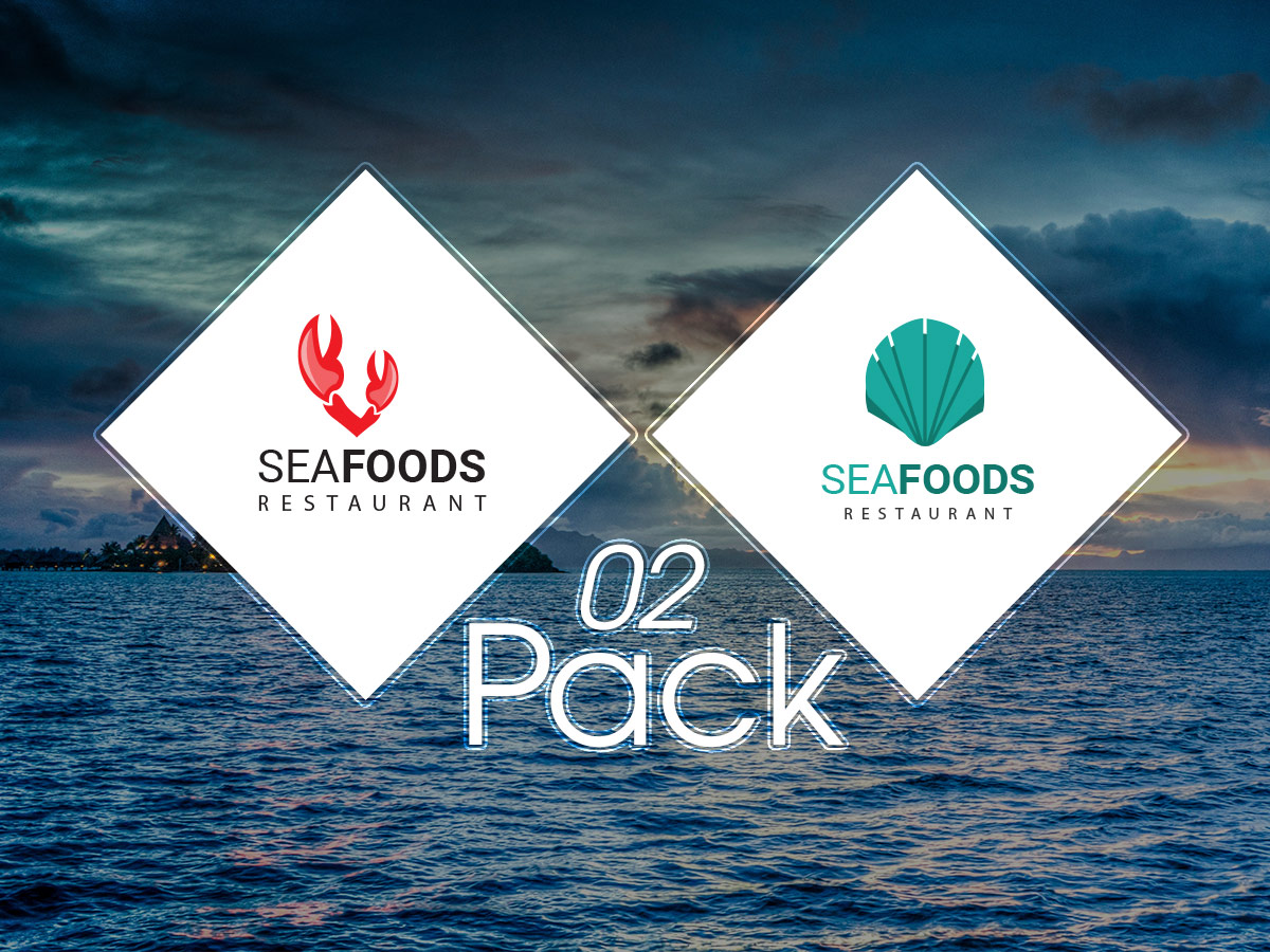 Sea foods Restaurant logo templates 02 pack