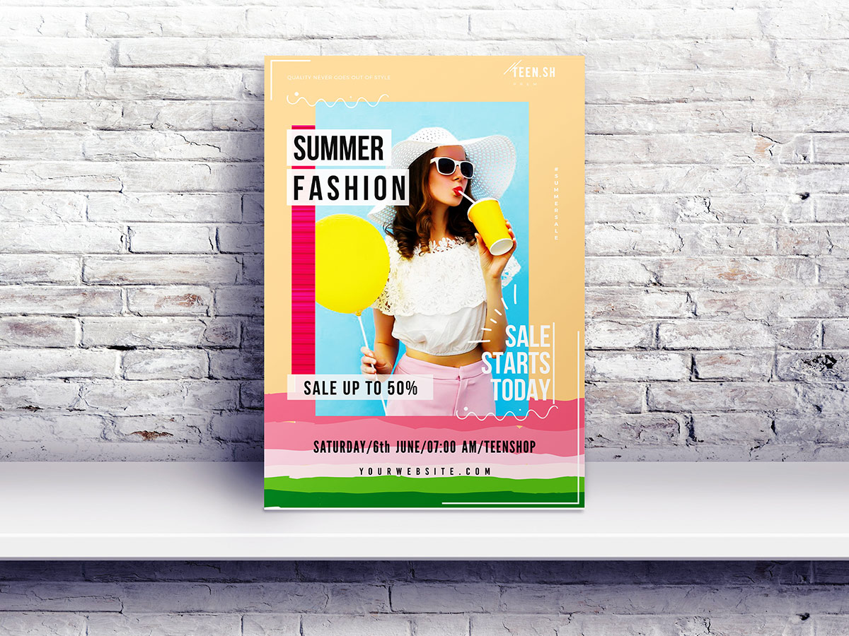 Summer Fashion Flyer Poster Templates Xcreative