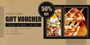 Restaurant, voucher, gift card, discount, design templates, food