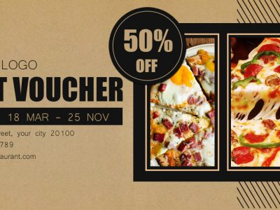 Restaurant, voucher, gift card, discount, design templates, food