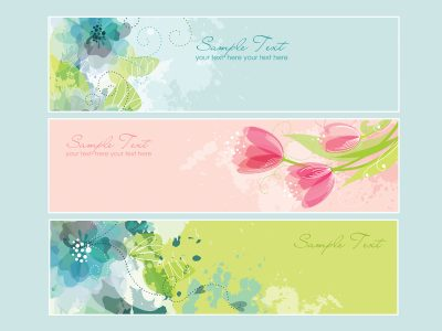 banners, beautiful, floral, headers, flower