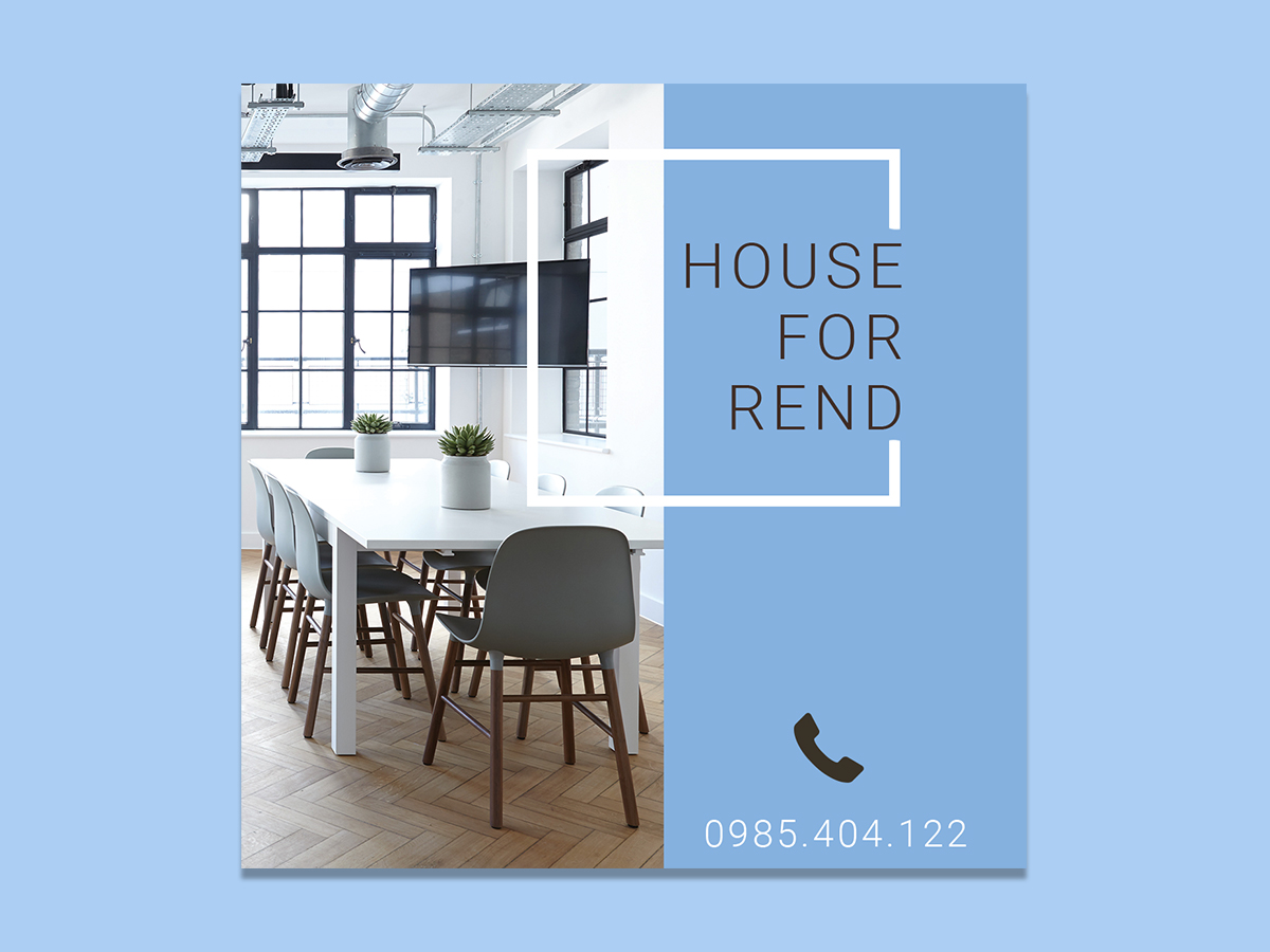 House, for Rent, Banner, Ad Templates, home, place
