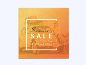 Summer Sale, Promotion – Banner Ad Templates