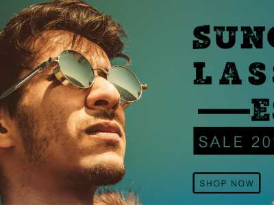 Sunglasses, Social Media Template, grasses, fashion, model, men, sale