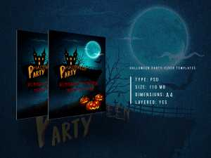 Halloween Party-Flyer templates